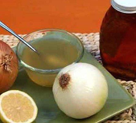 Лук с медом и лимоном при кашле
