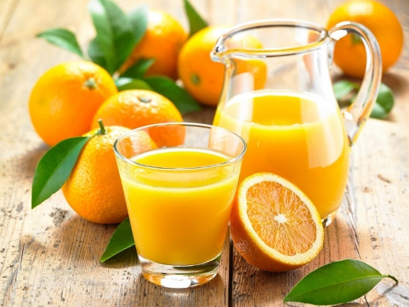 сок из 4 апельсинов