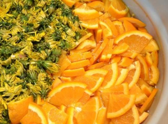 Апельсиново-лимонное варенье из одуванчиков
