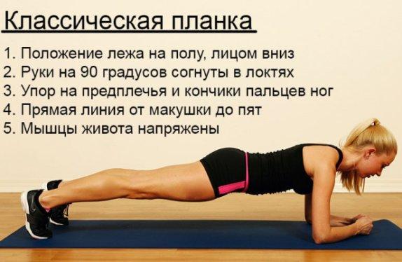 Упражнение планка для интенсивного похудения