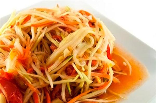 Рецепты из папайи, салат