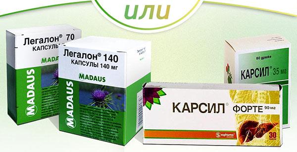 Препараты из расторопши