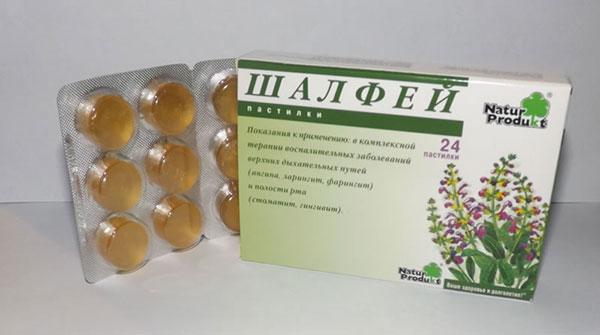 Все виды лекарств с шалфеем