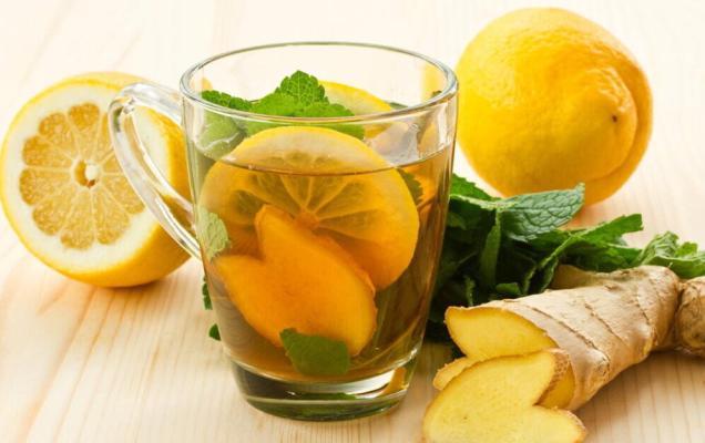 Имбирь, лимон, мята