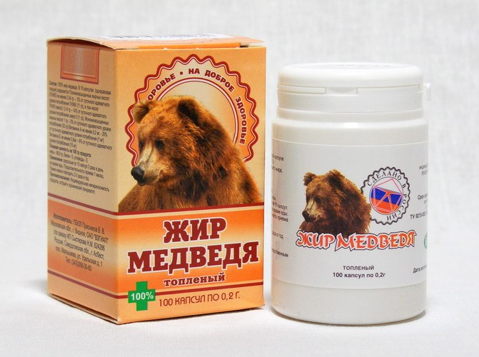 медвежий жир когда помогает