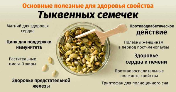 Полезные свойства семечек тыквы
